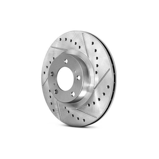 Stoptech 227.42076R - Select Sport Rotor for Brembo; Drilled & Slotted; Front Right - Infiniti G35 / Nissan 350Z