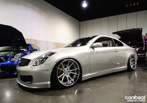 VIS Racing Techno-R / Nismo-Style Side Skirts (Fiberglass) - Infiniti G35 Coupe - Outcast Garage