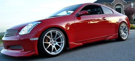 VIS Racing Invader / Veilside-Style Side Skirts (Fiberglass) - Infiniti G35 Coupe - Outcast Garage