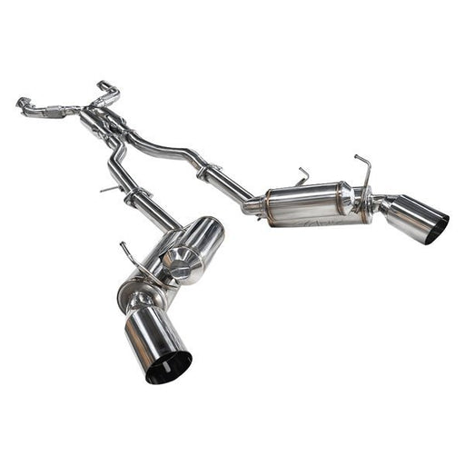 ARK Performance GRiP Exhaust System (Polished Tips) - Infiniti Q50 3.7 / Hybrid / AWD / RWD (14-16) - Outcast Garage