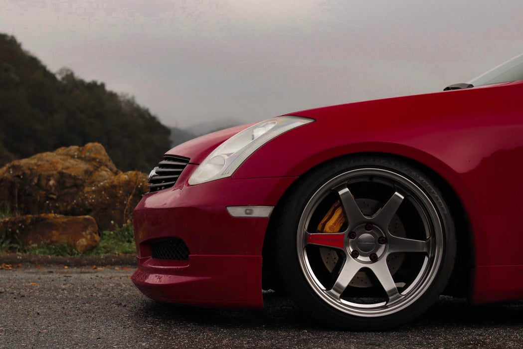 Gialla-Style Front Lip (Poly) - Infiniti G35 Coupe Non-Sport - Outcast Garage