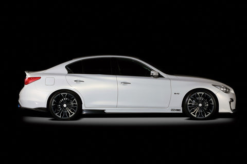 Blitz Aero Speed R-Concept Side Skirts (FRP) - Infiniti Q50 - Outcast Garage
