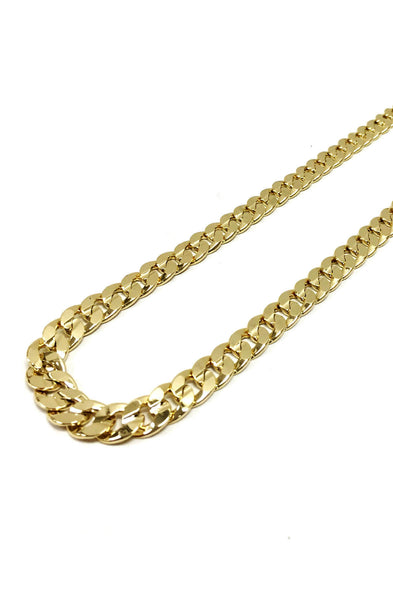 12mm 14k Gold Plated Curb Chain