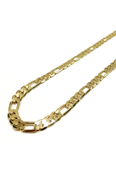 12mm 14k Gold Plated Figaro Chain