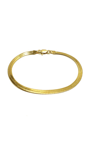 14k Gold Plated Herringbone Bracelet