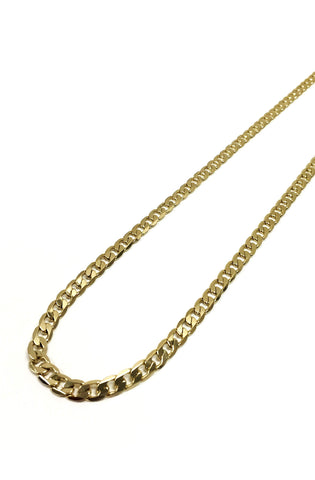 6mm 14k Gold Plated Curb Chain