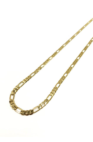 6mm 14k Gold Plated Figaro Chain