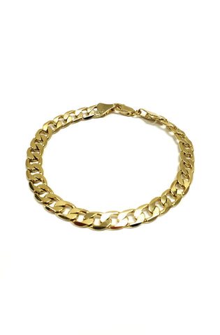 14k Gold Plated Curb Chain Bracelet