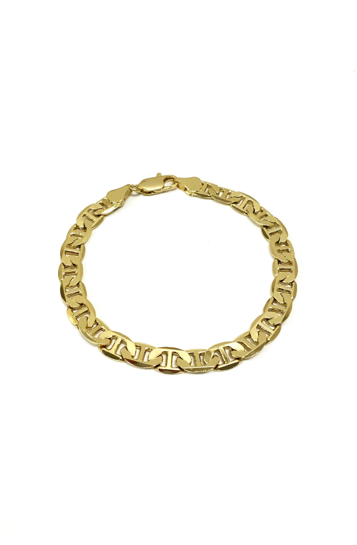 14k gold plated italian chain bracelet