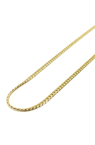 6mm 14k gold plated Miami Curb chain
