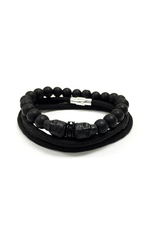 Skull Elite Bracelet Set // Black