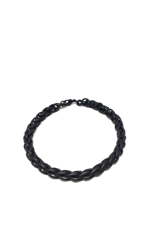 Black Twist Chain Bracelet