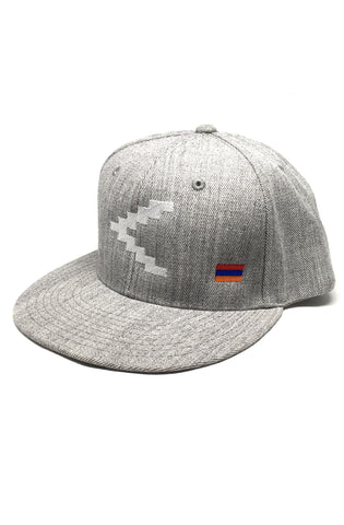 Heather Gray Flat Brim Snapback