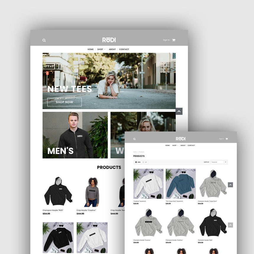 Shopify store build or redesign