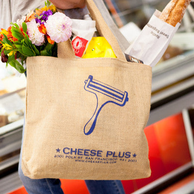 Cheese Plus Jute Shopping Bag