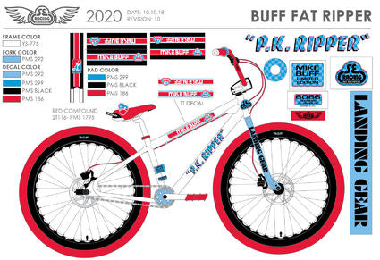SE Bikes 2020 Mike Buff Fat Ripper White/Red/Blue 26""