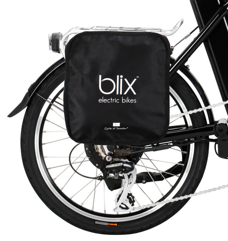 Blix Vika+ bag on bike