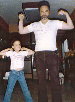 Health and fitness started early in the Brown family—Dr. Bob and Kyle Brown circa 1984