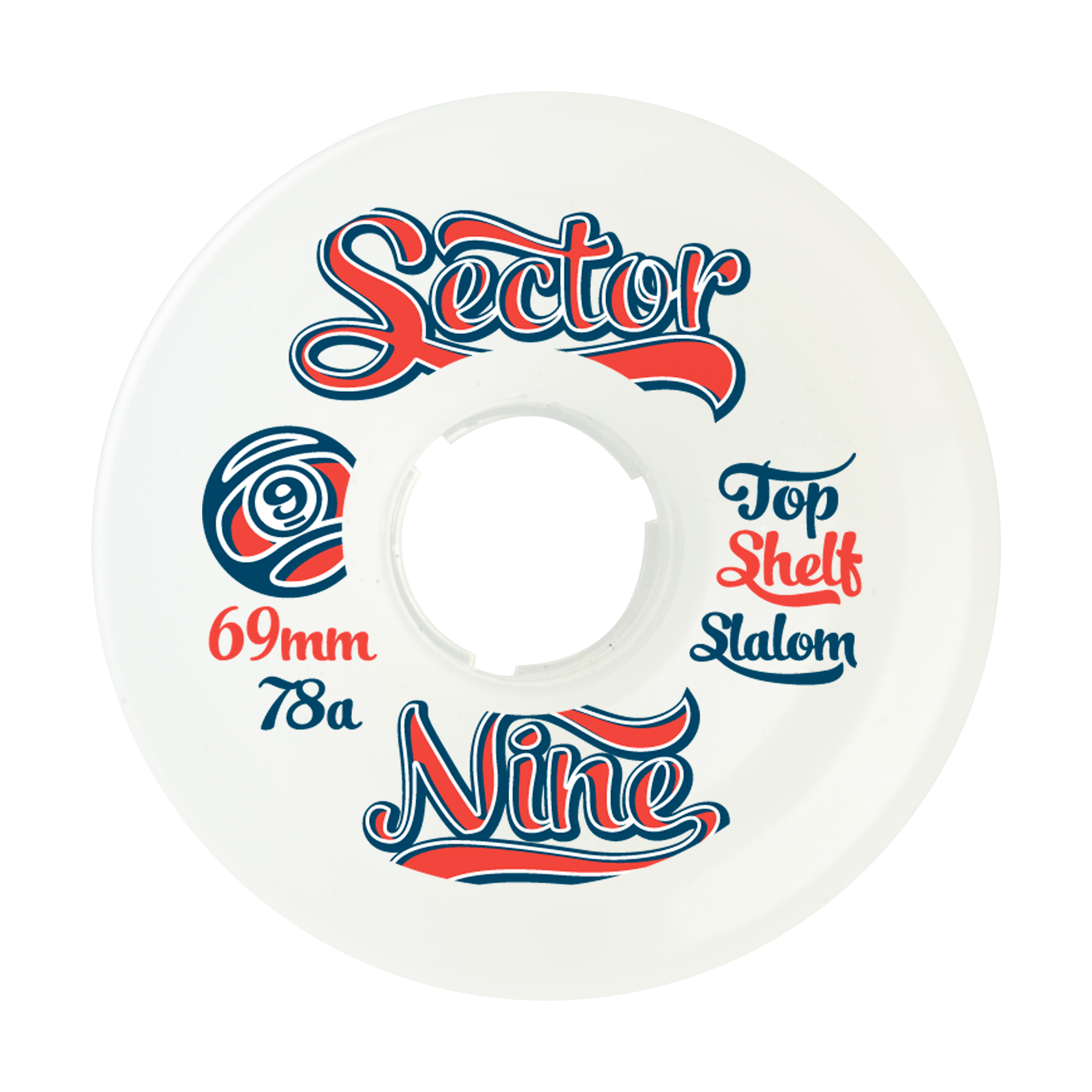 Sector Nine 69mm 78a 9- Balls White