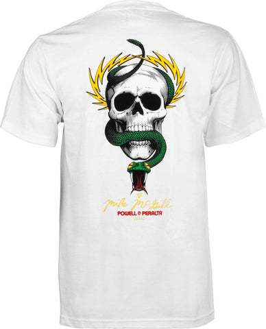 Powell Peralta Mike McGill Skull & Snake White T-shirt