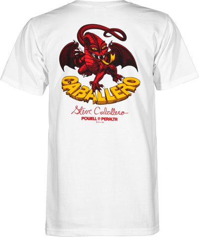 Powell Peralta Steve Caballero Original Dragon White T-Shirt