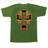 Dogtown T-Shirt Cross Logo Rasta