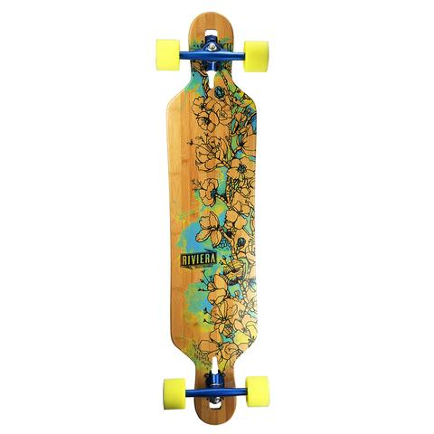 Riviera Drop Thru Longboard- Water Blossoms 38