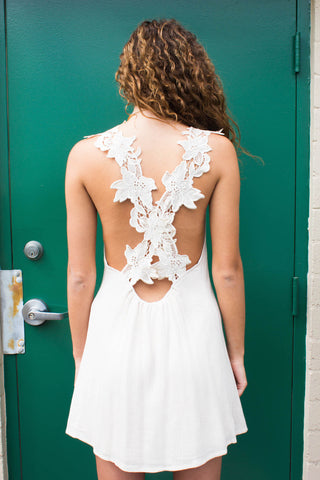 Romantic Ivory Lace Dress