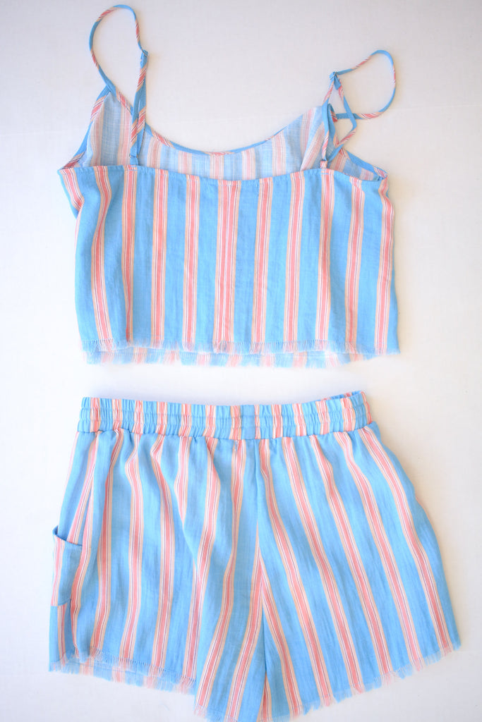 Blue and Pink Striped Set