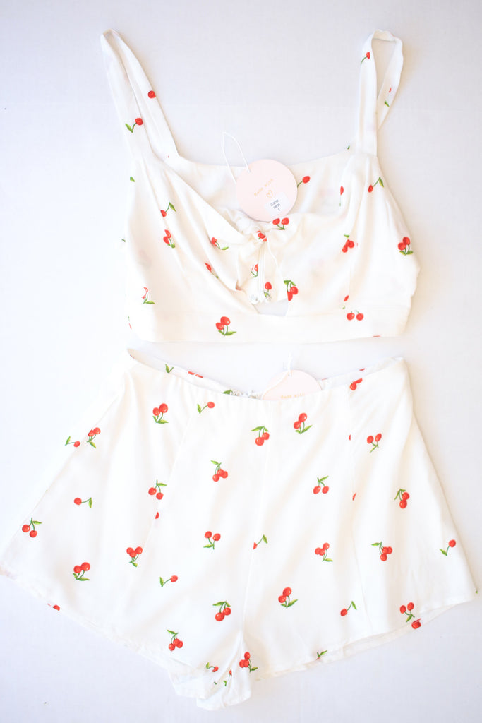 White Cherry Two Piece Set