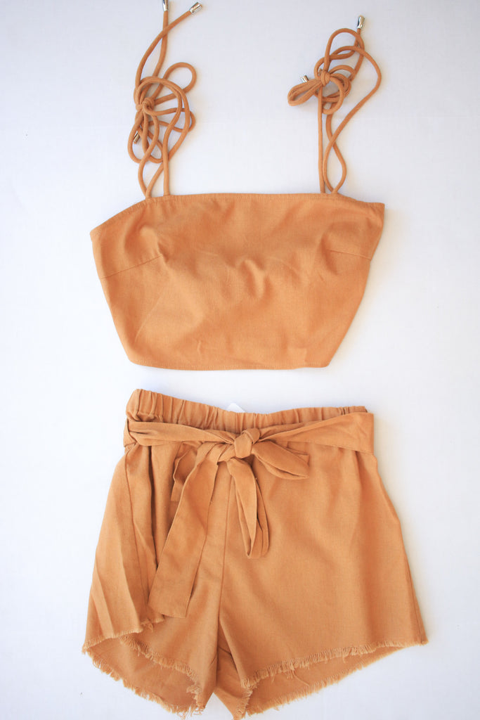 Camel Tie Up Two Piece