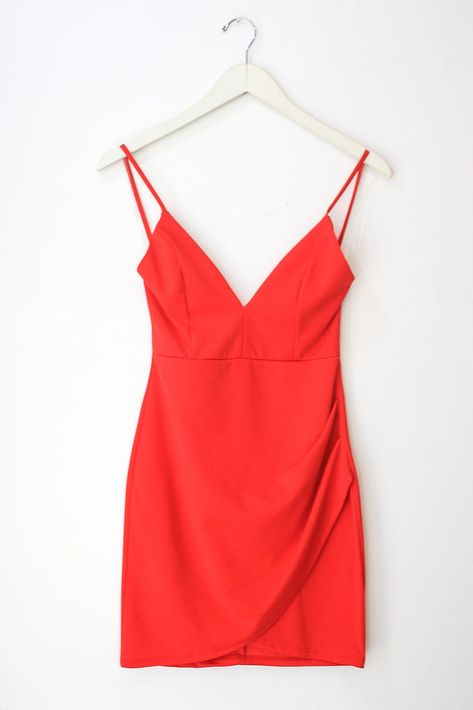 ZOE Red BODY CON PARTY MINI DRESS