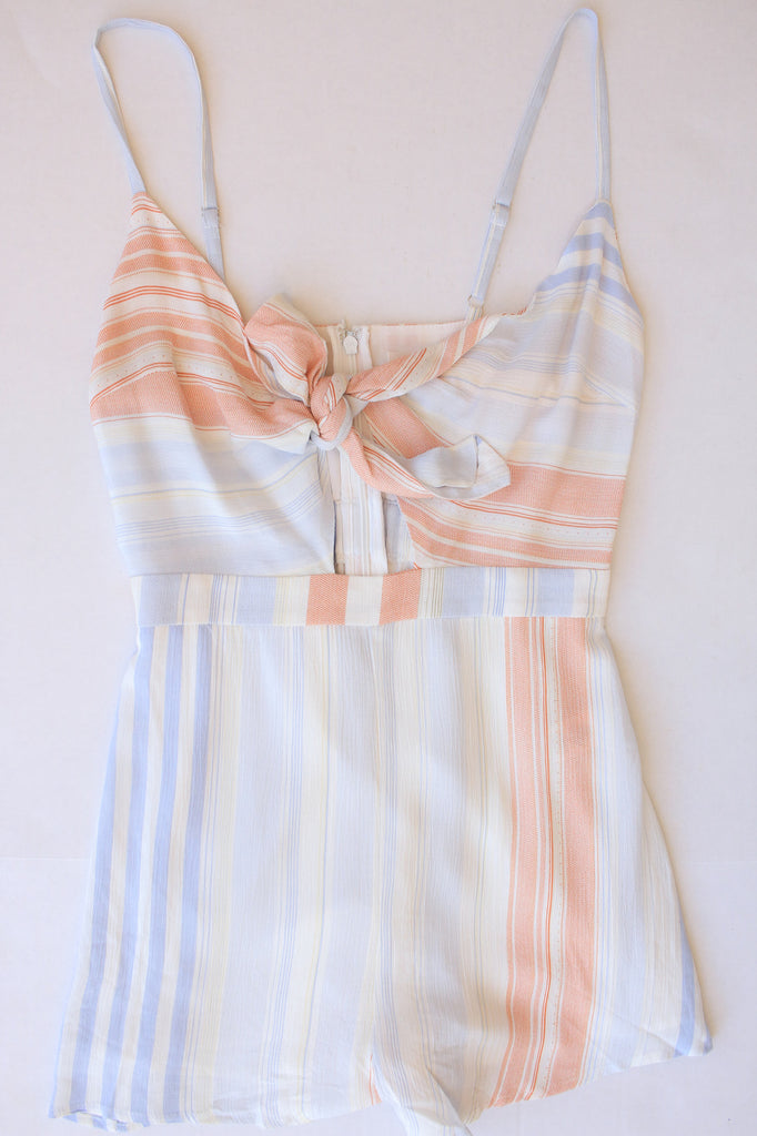 Watercolor Striped Romper