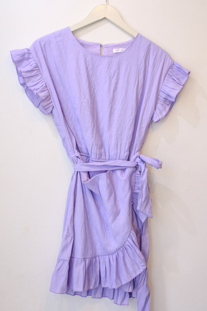 Lilac Frill Wrap Dress