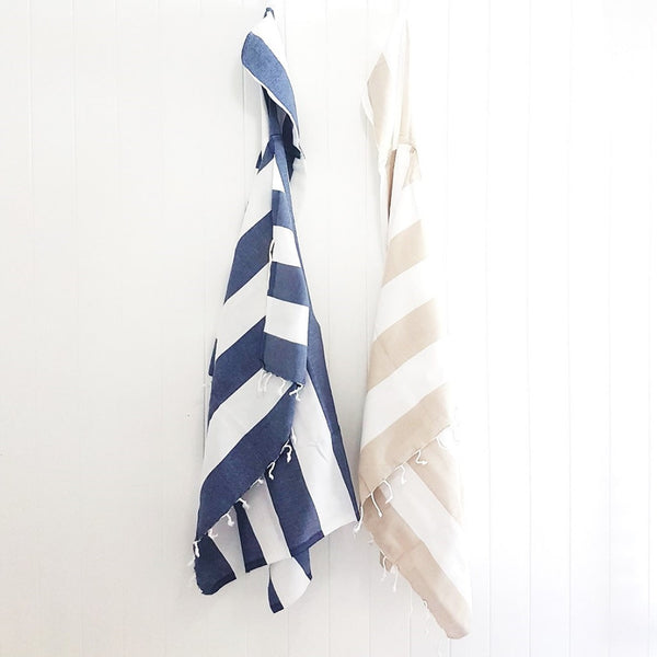 HAVANA Hooded Turkish towel - exclusive towel or cape design - handloomed luxury for the bath, beach and travel