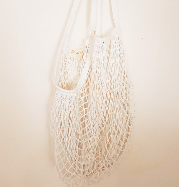 All natural, eco-friendly cotton net string bag for the beach, market, travel and everyday adventure
