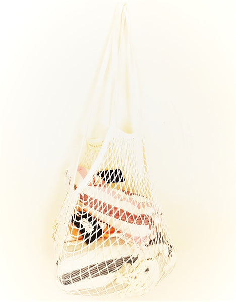 A bag that stretches to fit in more than you could ever imagine - all natural, eco-friendly re-usable bag for everyday