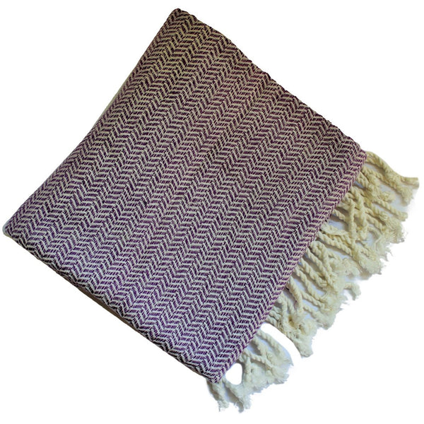 WATEGOS Grape (Purple) Turkish towel peshtemal - if you could feel the softness you would want to wrap it about you immediately