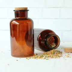 Amber Glass Apothecary Bottle