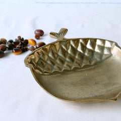 Gold Acorn Decorative Dish