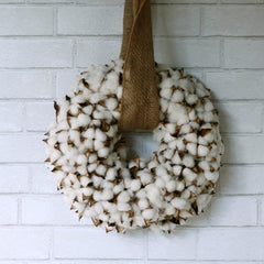 Faux Cotton Wreath