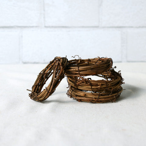Natural Grapevine Napkin Rings - Set of 4