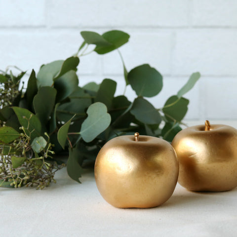 Faux Golden Apples - set of 2