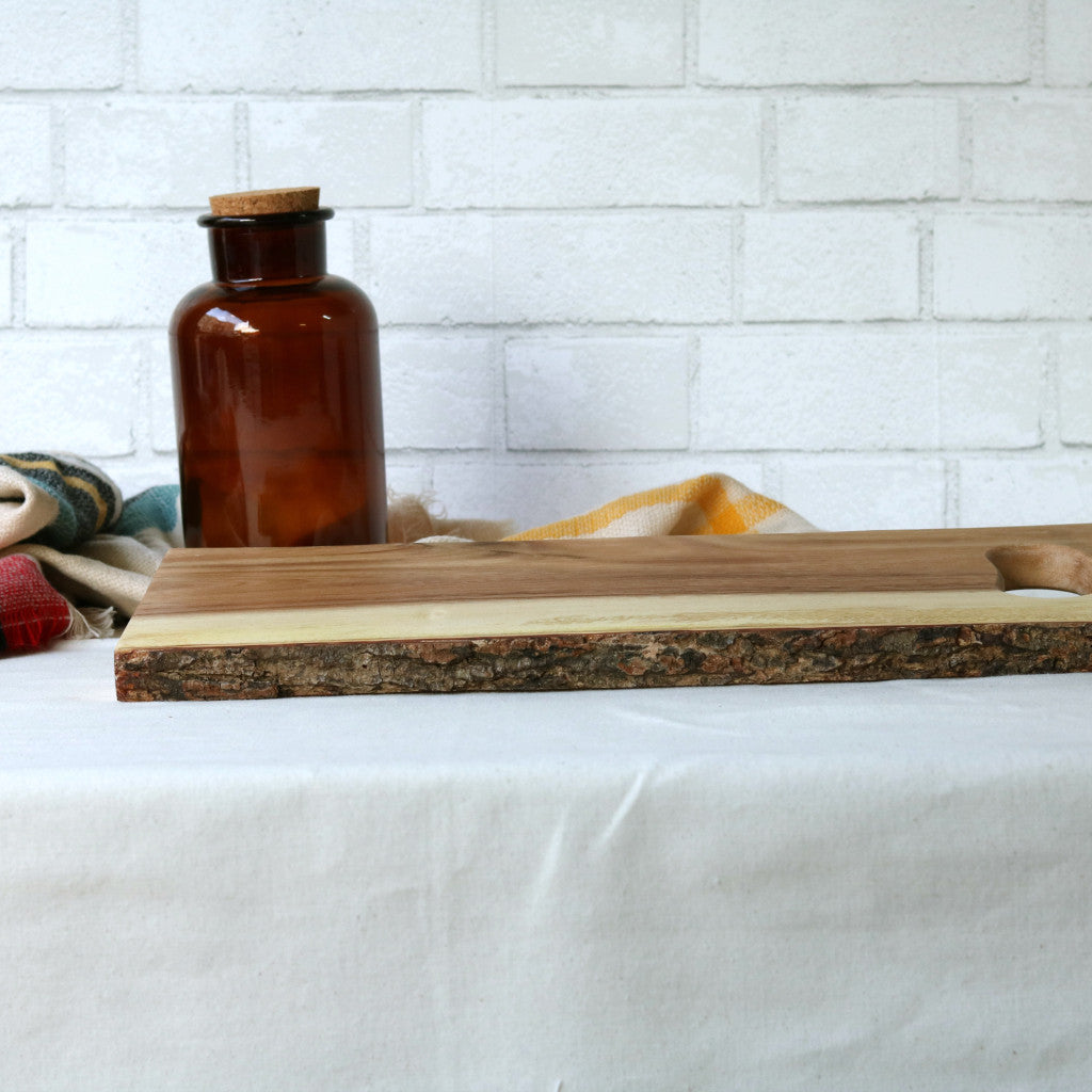 Wood Rectangular Serving Board With Handle