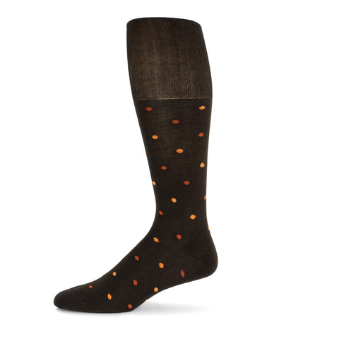 Orange Dotted Dress Sock