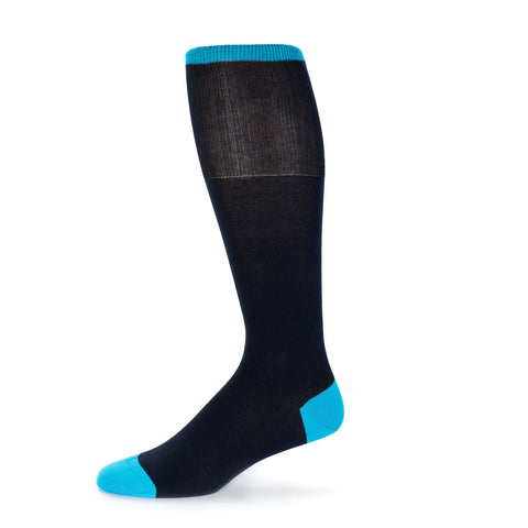 Blue Solid Dress Sock