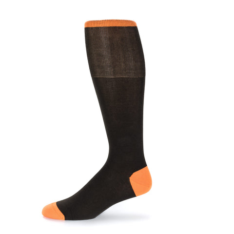 Orange Solid Dress Sock