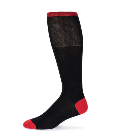 Red Solid Dress Sock