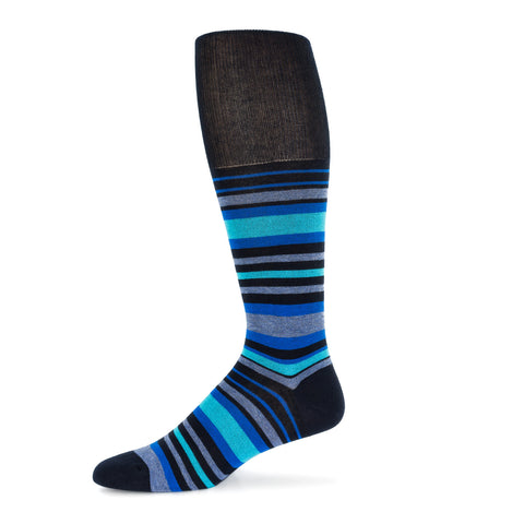 Blue Striped Dress Sock