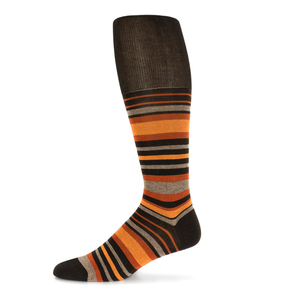 Orange Striped Dress Sock